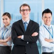 Friendly business team — Stockfoto