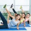 Stock Photo: Leg up exercise