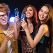 Friendly clubbing — Stock Photo