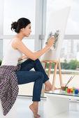 Professional painter — Stock Photo