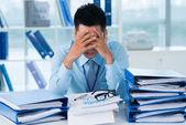 Trött från jobbet — Stockfoto
