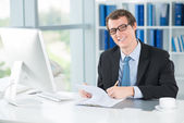 Businessman at work — Stock Photo