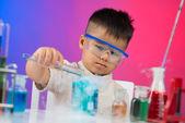 Entusiasta chimico — Foto Stock