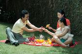 Family picnic — Stock Photo