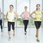 Aerobics exercises — Stock Photo
