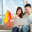 Excitement of shopping — Stock Photo