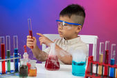 Concentration on chemistry — Stock Photo