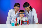 Chemistry amateur club — Stock Photo