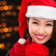 Lovely x-mas girl — Stock Photo