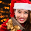 Attractive x-mas lady — Stock Photo