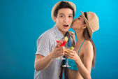 Cheerful couple in-love — Foto Stock