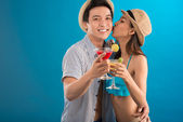 Happy couple on vacations — Stock Photo
