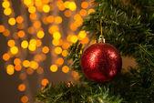 Noel ağacı süsle — Stok fotoğraf