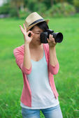 Taking a photo — Stock Photo