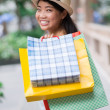 Lovely shopaholic — Stock Photo