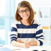 Studente diligente — Foto Stock