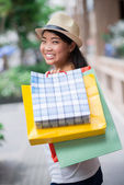 Lovely shopaholic — Stockfoto