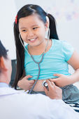 Little patient examining — Stock Photo