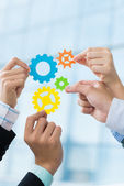 Samenwerking tussen bedrijven — Stockfoto