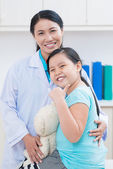 Cheerful little patient — Stock Photo