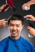Man's hairdo — Stock Photo