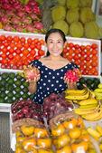 Saleswoman — Foto Stock