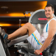 Practicing with exercise machine — Stock Photo