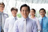 Leader of the company — Stock Photo