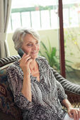 Call from retiree — Stock Photo