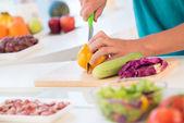 Preparing meal — Stock Photo