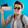 Stock Photo: Tickets to travel