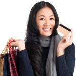 Lovely shopaholic — Foto Stock