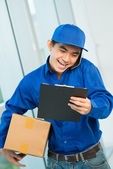 Courier at work — Stock Photo