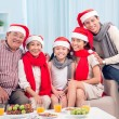 Happy X-mas family — Stock Photo
