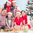 X-mas family — Stock Photo
