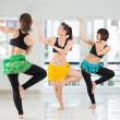 Beauty belly dancers — Stock Photo
