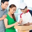 Stock Photo: Delivery confirmation