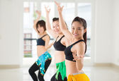 Belly exercising — Stock Photo