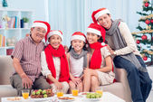 Happy X-mas family — Stockfoto
