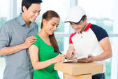 Delivery confirmation — Foto Stock