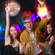 Stock Photo: Friends clubbing