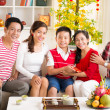 Asian family celebrating the Chinese New Year — Stock Photo #39886783