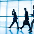 Businesspeople in a rush — Stock Photo