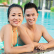 Couple in the pool — Stock Photo