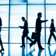 Stock Photo: Businesspeople in a rush hour