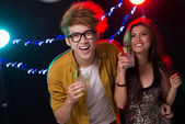 Cheerful party people — Stock Photo