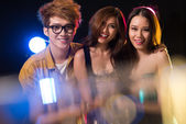 Youngsters in the night club — Stock Photo