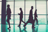 Businesspeople during the rush hour — Stock Photo
