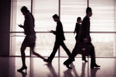 Businesspeople in a hurry — Stock Photo