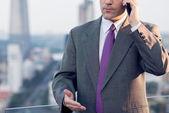 Businessman making a telephone call — Stock Photo